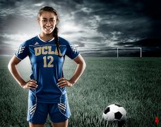 A soccer player poses soccer photography, soccer photography Soccer Shoot, Soccer Poses, Soccer Pro, Girls Soccer, Soccer Coaching, Soccer Players, Girl Football, Morgan Soccer, Nike Soccer