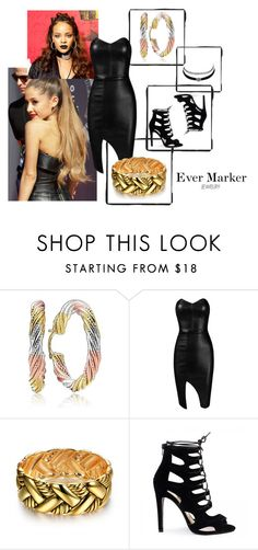 """Hoops n Leather"" by evermarkerofficial ❤ liked on Polyvore featuring Charlotte Russe and Posh Girl"