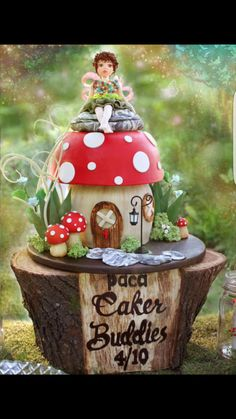 PDCA Caker Buddies Dessert Table Collaboration - Woodland Magic by vanillabakery