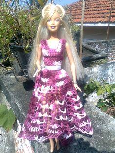 Bonecas de crochê: Vestidos Barbie