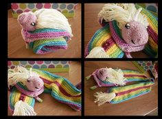 Threading on Rainbows...awesome Adventure Time crochet!