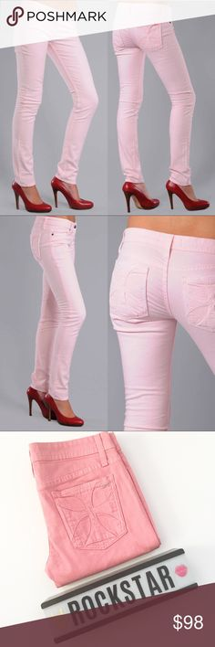 """🎟🆕 Habitual ✤ Skinny Glory Jean ✤ Maltese Cross Habitual  Skinny Glory Jeans  in Roseate Pink  Brand New with Tags  🎟🎟🎟🎟🎟🎟🎟🎟🎟🎟🎟🎟  With its' trademark fabulous fit, this pair of Habituals has a lean silhouette that elongates the legs, with signature Maltese cross back pocket detail. Pink has never looked or felt so good!   Fabrication: 99% cotton/1% spandex  Made in the fabulous USA, baby! 🇺🇸 Inseam: 32""""   🎟🎟🎟🎟🎟🎟🎟🎟🎟🎟🎟🎟  ✗ Drama ✗ Trades ⚡️Fast Shipper ☆☆☆☆☆ 5 star…"""