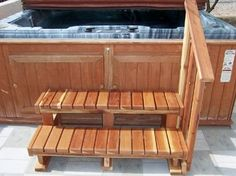 hot tub stairs - something like this for the whirlpool tub in the bathroom?