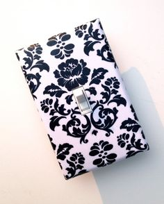 Damask Light Switch Plate Cover / Black and White / by SSKDesigns, $8.00