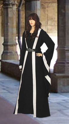 Medieval Wicca Pagan Ritual Robe Coat Handmade Natural Cotton #YourDressmaker…