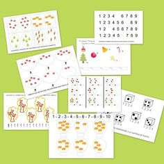 Fichas de matematicas para repasar en E. Infantil