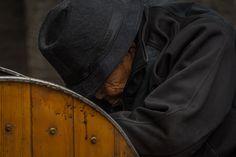 The sad man. Beijing China, Asia