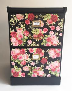 DIY File Cabinet Makeover the Easy Way! - Mod Podge Rocks DIY File Cabinet Makeover the Easy Way!<br> In this DIY file cabinet project, we'll show you the easy way to do a revamp with fabric! This filing cabinet makeover is SO cute. Retro Furniture, Diy Furniture, Refurbishing Furniture, Furniture Design, Decoupage Furniture, Furniture Online, Furniture Stores, Office Furniture, Painted Furniture