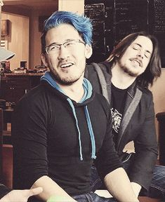 markiplier<<<Arin doing his mighty hair flip in the background.