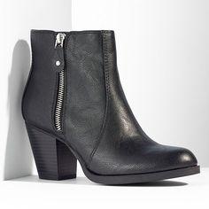 Simply Vera Vera Wang Zipper Ankle Boots - Women