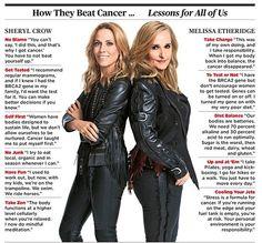 Melissa Ethridge Sheryl Crow Breast Cancer Lessons