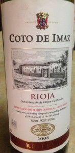 2008 Coto de Imaz Reserva  -- I tested 2011  -- https://www.systembolaget.se/dryck/roda-viner/coto-de-imaz-265901