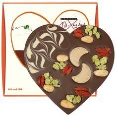 zotter Schokoladen Manufaktur: Weihnachtsherz VEGAN mit Orangenschoko-Füllung