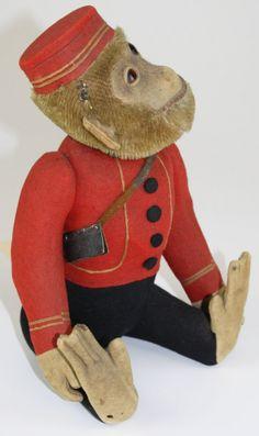 1920 Schuco bellhop yes/ no monkey.