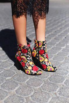 #Lulus - #Lulus Wild Diva - Kupuri Black Embroidered Ankle Booties - Size 8 - Lulus - AdoreWe.com