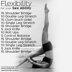 Hiit this workout to improve your Flexibility for Your Sex Ability