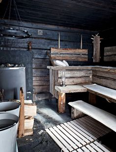 Tiny house, living in a small space, plans, interior cottage DIY, modern small house on wheels- Tiny house ideas Sauna Steam Room, Sauna Room, Small Houses On Wheels, House On Wheels, Saunas, Sauna Wellness, Sauna Shower, Scandinavian Cabin, Sauna Design