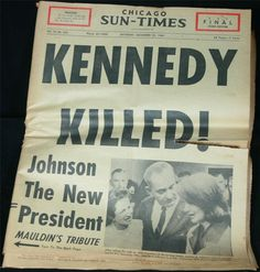 How much is a 1963 newspaper about JFK's assassination worth?