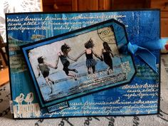 Card made with rubber stamps and mixed media by http://lillibelles.blogspot.de/