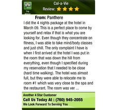 I did the 4 nights package at the hotel in March 09. This is a perfect place to come by...