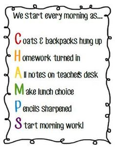 "Change ""c"" to ""computers turned on"" Acrostics Make Classroom Management A Snap: {Free} acrostic poems for starting the day, hallway behavior, working with partners, working in groups. Perfect for the classroom. Classroom Management Strategies, Classroom Procedures, Classroom Organization, Champs Classroom Management, 3rd Grade Classroom, Classroom Posters, Future Classroom, Classroom Ideas, Elementary Classroom Rules"