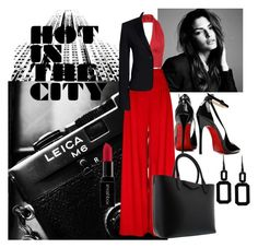 """""""Hot in the City-Red and Black"""" by paperdollsq ❤ liked on Polyvore featuring Canvas by Lands' End, Givenchy, Posh Girl, Smashbox, Rebecca and anythingpolyvoregroup"""