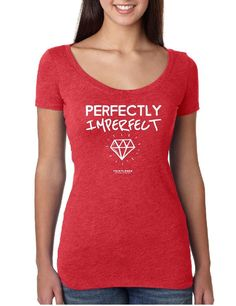 Perfectly Imperfect - Ladies Scoop Neck Fitted