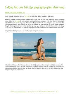 6 bài tập yoga giúp giảm đau lưng hiệu quả by Làm đẹp tự nhiên via slideshare
