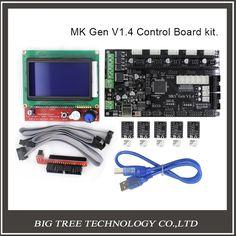 69.26$  Buy here - http://ali10w.worldwells.pw/go.php?t=32769489277 - BIQU MKS Gen V1.4 3D printer kit with MKS Gen V1.4 RepRap board + 5PCS TMC2100 Driver/DRV8825/A4988+ 12864 Graphic LCD