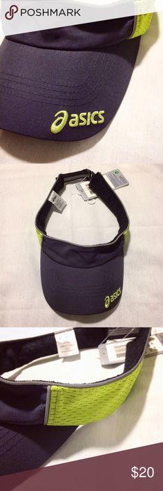 Neon and grey sports visor New sports visor ••• dark grey and neon green ••• NWT Asics Accessories Hats