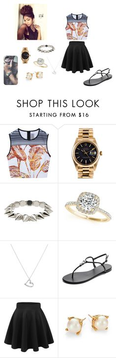 """""""cute or nah post comments below please!!!"""" by minnie-mouse12 ❤ liked on Polyvore featuring Clover Canyon, Rolex, CC SKYE, Allurez, Argento Vivo, Giuseppe Zanotti and Kate Spade"""