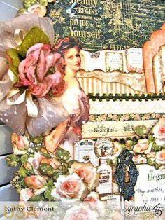 Elegant Lady Layout CHA Portrait of a Lady by Kathy Clement Product by Graphic 45 Photo 5