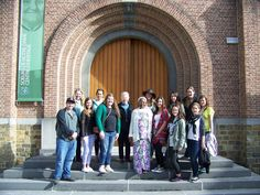 Sr. Marie Kelley, SND and Sr. Honorine Yamba, SND gave the group a tour of the Sisters of Notre Dame de Namur Heritage Center, the museum devoted to the history of the order.