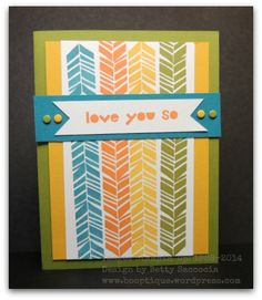 cute card from Betty using Petal Parade, Stampin Up