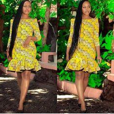 Style Inspiration: Latest Ankara Styles, African print fashion, Ankara fall fash… Remilekun - African Styles for Ladies Short African Dresses, Ankara Short Gown Styles, Short Gowns, Latest African Fashion Dresses, African Print Dresses, African Print Fashion, Africa Fashion, African Prints, African American Fashion