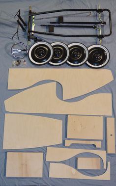 Wooden Pedal Car Kit With Chassis - PedalCar.com