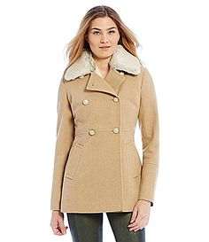 Jessica Simpson Womens Snap Double Breasted Soft Shell with Hoodu Black - Coats & Outerwear