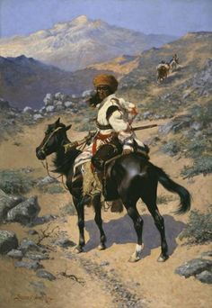 Frederic S. Remington (1861–1909), An Indian Trapper, 1889, Oil on canvas, Amon Carter Museum, Fort Worth, Texas