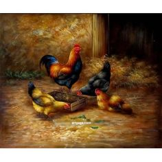 100% hand paint animal oil painting technique canvas wall art home decoration modern painting set presents