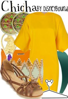 Disney Bound: Chicha (The Emperors New Groove) Movie Inspired Outfits, Disney Inspired Fashion, Disney Fashion, Nerd Fashion, Fandom Fashion, Disney Character Outfits, Disney Bound Outfits, Disneyland Outfits, Dark Autumn