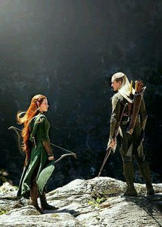 "murmaiderr: "" New still from The Hobbit: The Desolation of Smaug "" Thranduil, Legolas And Tauriel, Fili And Kili, Aragorn, Best Love Movies, Good Movies, Gandalf, O Hobbit, Desolation Of Smaug"