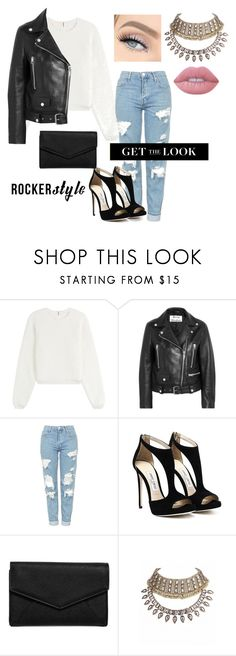 """""""Untitled #63"""" by nesa-00 ❤ liked on Polyvore featuring See by Chloé, Acne Studios, Topshop, LULUS, Lime Crime, rockerchic and rockerstyle"""