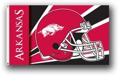 NCAA Arkansas Razorbacks 3 Ft. X 5 Ft. Flag W/Grommets - Helmet Design