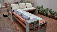 New Deck – 2019 - Backyard Diy Backyard Seating, Backyard Patio Designs, Fire Pit Backyard, Backyard Landscaping, Backyard Ideas, Firepit Ideas, Outdoor Seating, Outdoor Patio Ideas On A Budget Diy, Back Yard Patio Ideas