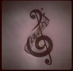Music Tattoo - treble clef