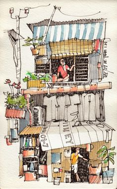 JR Sketches: Vietnam - January 2014 - #4                                                                                                                                                                                 More