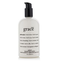 philosophy inner grace lotion - not only leaves skin amazingly firm and soft, but it smells 'comfortable'
