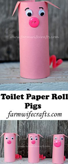 Bring Ag in the classroom and home by making these toilet paper roll pigs.