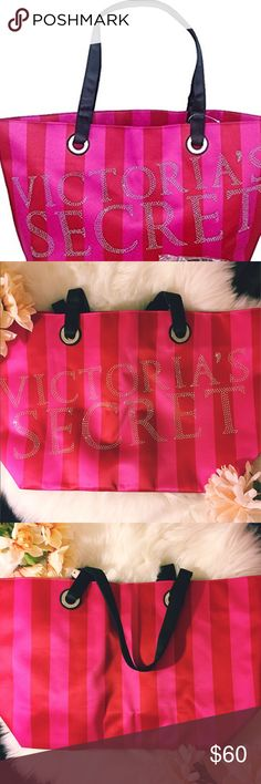 RARE VICTORIAS SECRET RED AND PINK BLING TOTE Rare and hard to come by limited edition bling tote bag. Brand new with the tags. Shiny satin like material outside. Hot pink canvas lining on inside. No pockets. Product dimensions 21x6x13. I only have one available. Perfect for shopping, quick getaway, school, carry on, beach. ❌trades❌ ❌ PayPal ❌ holds 👗Measurements upon request  👍 offers*** Please use the offer button ☝🏼 keep in mind PM Takes 20% commission 📦 fast shipper 🛍 I wrap all my…