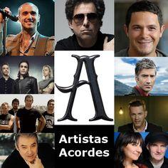 A (Lista de Artistas) canciones con letras y acordes de guitarra y piano
